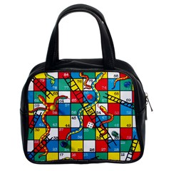 Snakes And Ladders Classic Handbags (2 Sides)