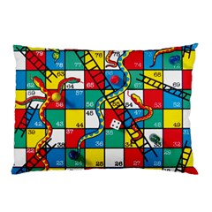 Snakes And Ladders Pillow Case