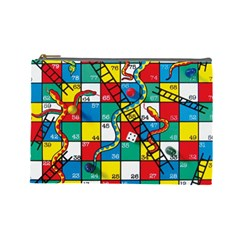 Snakes And Ladders Cosmetic Bag (large)