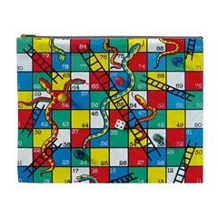 Snakes And Ladders Cosmetic Bag (xl)