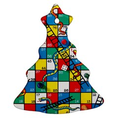 Snakes And Ladders Christmas Tree Ornament (Two Sides)