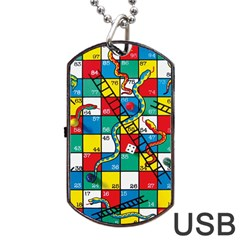 Snakes And Ladders Dog Tag Usb Flash (two Sides)