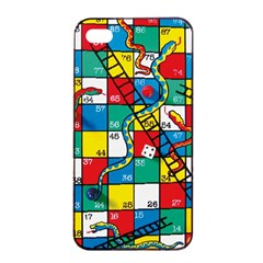 Snakes And Ladders Apple Iphone 4/4s Seamless Case (black)