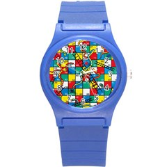 Snakes And Ladders Round Plastic Sport Watch (s)