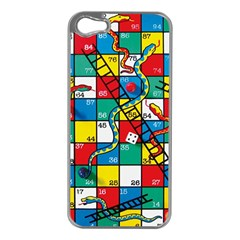 Snakes And Ladders Apple iPhone 5 Case (Silver)