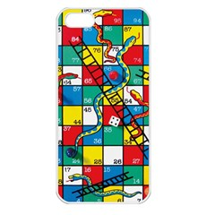 Snakes And Ladders Apple Iphone 5 Seamless Case (white)