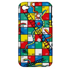 Snakes And Ladders Apple Iphone 4/4s Hardshell Case (pc+silicone)