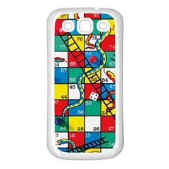 Snakes And Ladders Samsung Galaxy S3 Back Case (white)