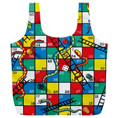 Snakes And Ladders Full Print Recycle Bags (l)