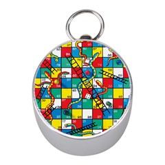 Snakes And Ladders Mini Silver Compasses