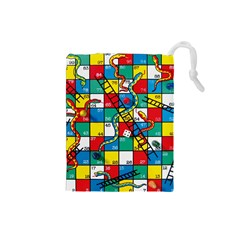 Snakes And Ladders Drawstring Pouches (small)