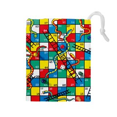 Snakes And Ladders Drawstring Pouches (large)