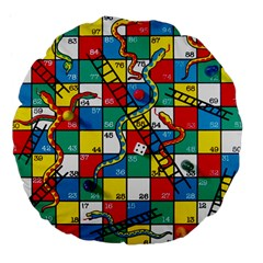 Snakes And Ladders Large 18  Premium Flano Round Cushions