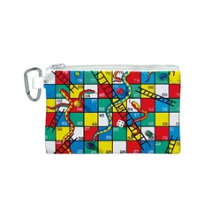 Snakes And Ladders Canvas Cosmetic Bag (s)