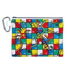 Snakes And Ladders Canvas Cosmetic Bag (L)