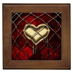 Love Hearth Background Scrapbooking Paper Framed Tiles