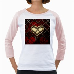 Love Hearth Background Scrapbooking Paper Girly Raglans
