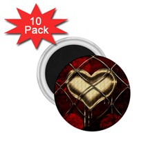 Love Hearth Background Scrapbooking Paper 1 75  Magnets (10 Pack)