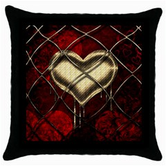Love Hearth Background Scrapbooking Paper Throw Pillow Case (black)