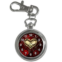 Love Hearth Background Scrapbooking Paper Key Chain Watches