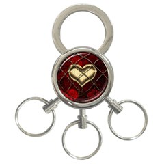 Love Hearth Background Scrapbooking Paper 3 Ring Key Chains