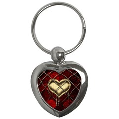 Love Hearth Background Scrapbooking Paper Key Chains (Heart)