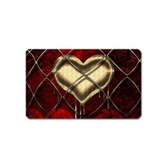 Love Hearth Background Scrapbooking Paper Magnet (Name Card)