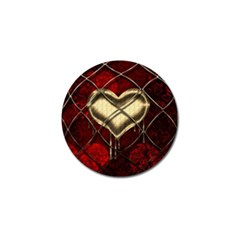 Love Hearth Background Scrapbooking Paper Golf Ball Marker (10 Pack)