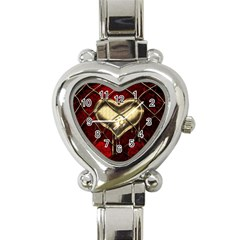 Love Hearth Background Scrapbooking Paper Heart Italian Charm Watch