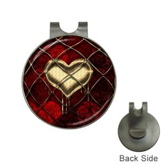 Love Hearth Background Scrapbooking Paper Hat Clips With Golf Markers