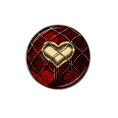 Love Hearth Background Scrapbooking Paper Hat Clip Ball Marker (4 pack)