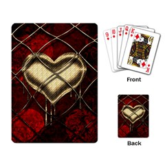 Love Hearth Background Scrapbooking Paper Playing Card