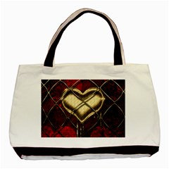 Love Hearth Background Scrapbooking Paper Basic Tote Bag