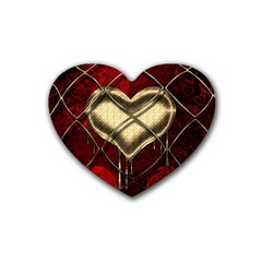Love Hearth Background Scrapbooking Paper Rubber Coaster (heart)