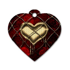 Love Hearth Background Scrapbooking Paper Dog Tag Heart (one Side)