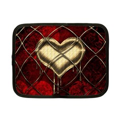 Love Hearth Background Scrapbooking Paper Netbook Case (small)