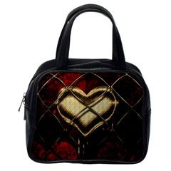 Love Hearth Background Scrapbooking Paper Classic Handbags (one Side)