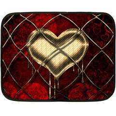 Love Hearth Background Scrapbooking Paper Fleece Blanket (mini)