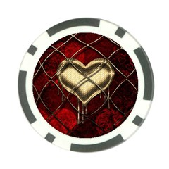 Love Hearth Background Scrapbooking Paper Poker Chip Card Guard (10 Pack)