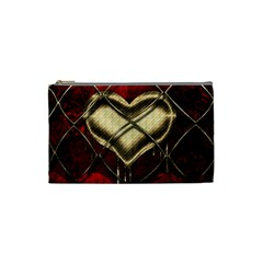 Love Hearth Background Scrapbooking Paper Cosmetic Bag (small)