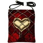 Love Hearth Background Scrapbooking Paper Shoulder Sling Bags Front