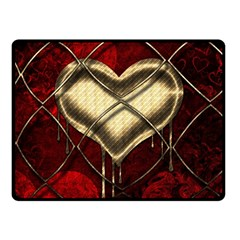 Love Hearth Background Scrapbooking Paper Fleece Blanket (small)