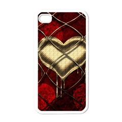 Love Hearth Background Scrapbooking Paper Apple Iphone 4 Case (white)