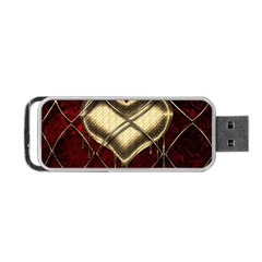 Love Hearth Background Scrapbooking Paper Portable Usb Flash (one Side)