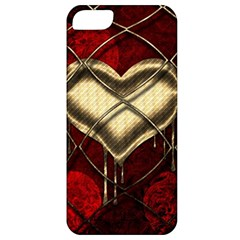 Love Hearth Background Scrapbooking Paper Apple Iphone 5 Classic Hardshell Case