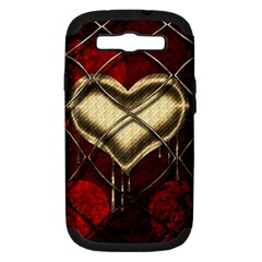 Love Hearth Background Scrapbooking Paper Samsung Galaxy S Iii Hardshell Case (pc+silicone)