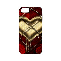 Love Hearth Background Scrapbooking Paper Apple Iphone 5 Classic Hardshell Case (pc+silicone)