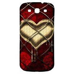 Love Hearth Background Scrapbooking Paper Samsung Galaxy S3 S Iii Classic Hardshell Back Case