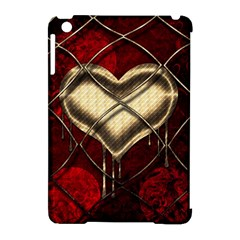 Love Hearth Background Scrapbooking Paper Apple Ipad Mini Hardshell Case (compatible With Smart Cover)