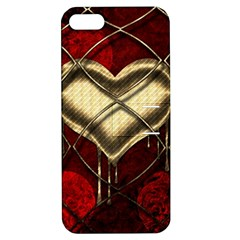 Love Hearth Background Scrapbooking Paper Apple Iphone 5 Hardshell Case With Stand